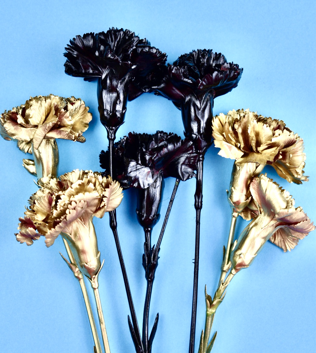 gold carnations